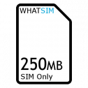 250MB 1 month Talkmobile SIM Only